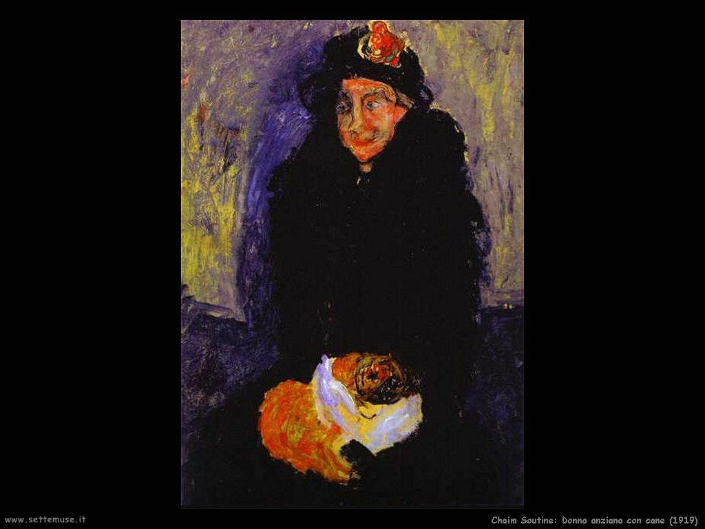 Donna anziana con cane (1919)