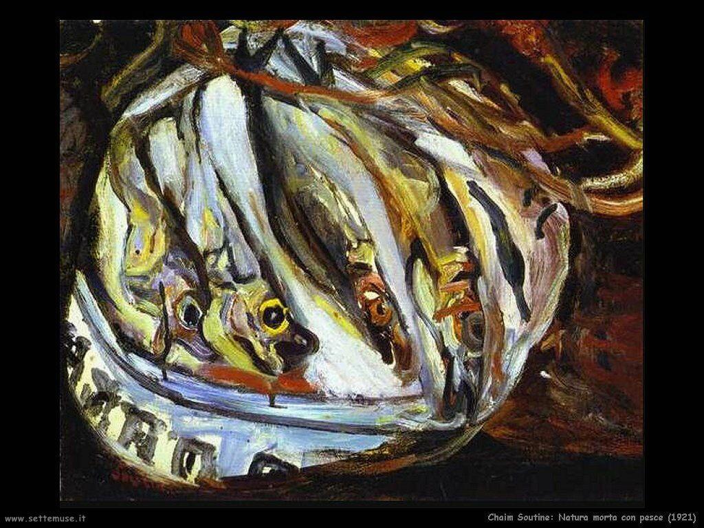 Natura morta con pesce (1921)