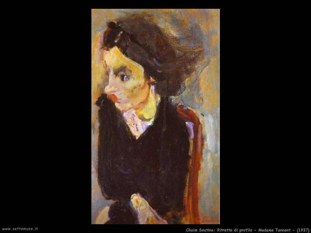 Donna di profilo -madame Tennent- (1937)