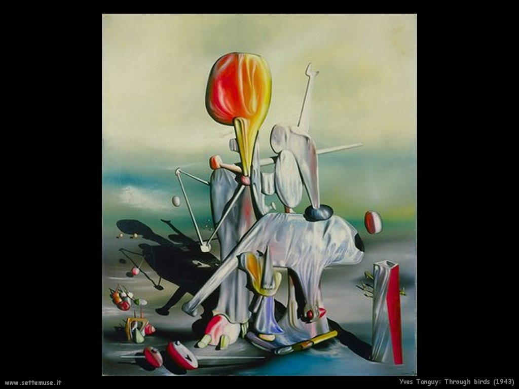 yves_tanguy_Attraverso uccelli (1943)