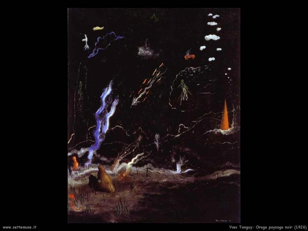 yves_tanguy_L_Orage_Paysage_noir_1926
