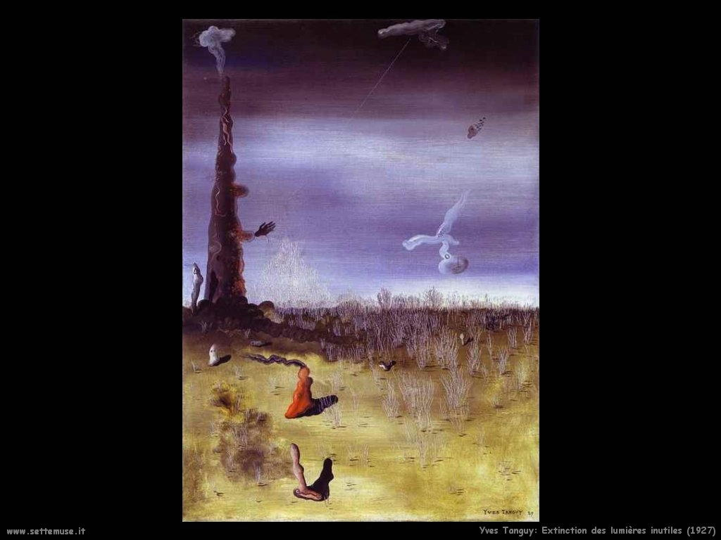 yves_tanguy_Le luci non necessarie (1927)