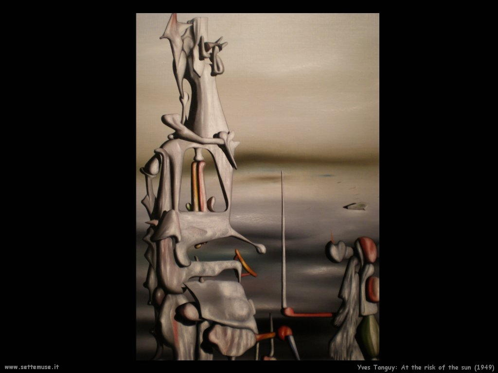 yves_tanguy_A rischio del sole (1949)