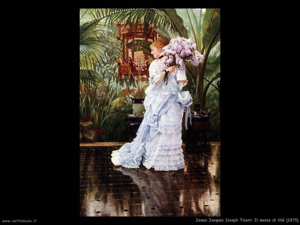 Tissot, Il mazzo di lillà (1875)