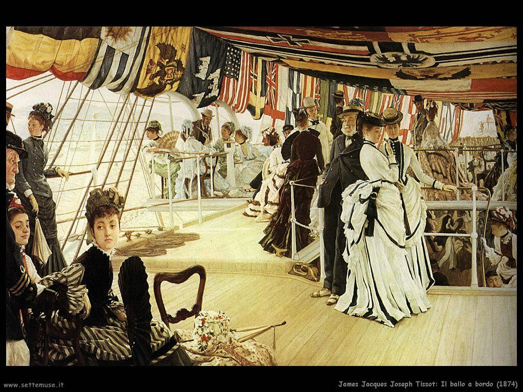Tissot Il ballo a bordo (1874)