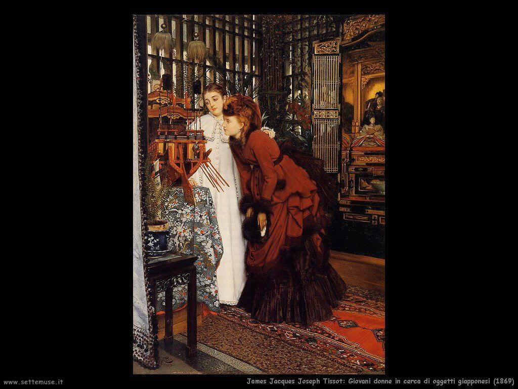 Tissot, Giovani donne in cerca di oggetti giapponesi (1869)