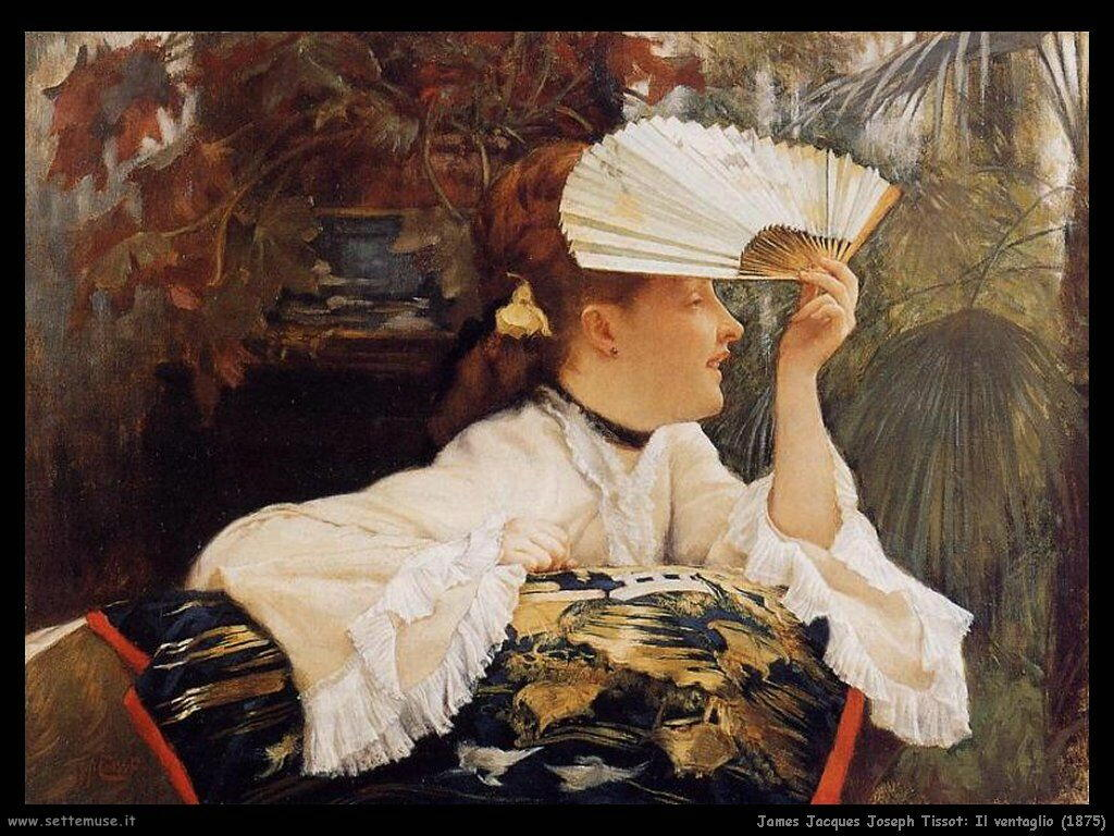 Tissot, Il ventaglio (1875)