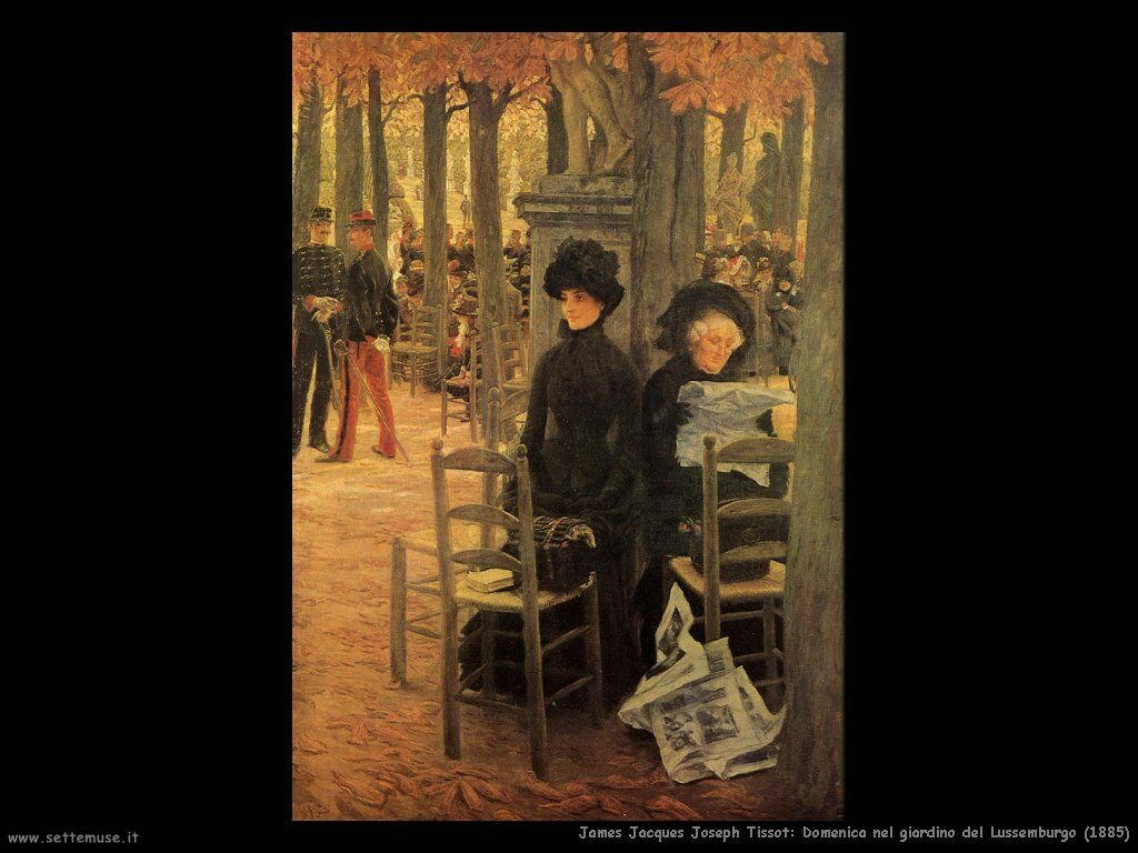 Tissot, Domenica nel giardino del Lussemburgo (1885)