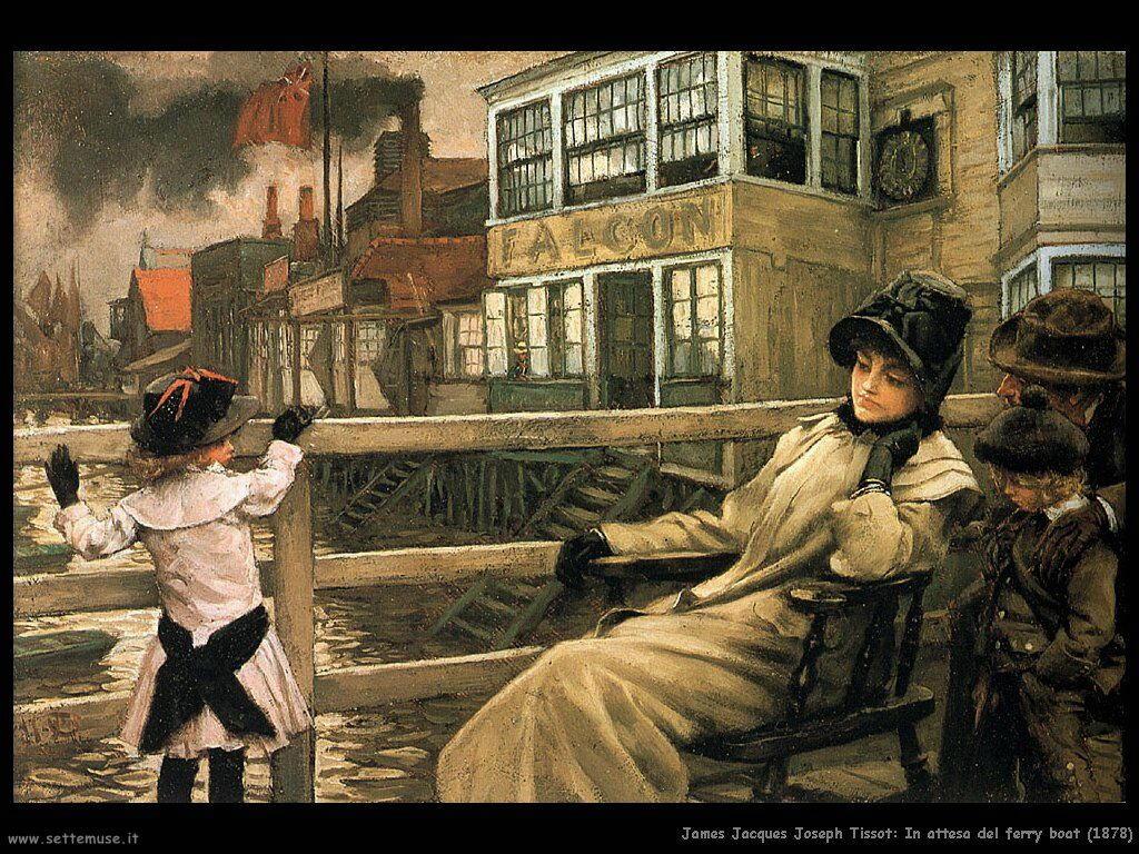 Tissot, In attesa del ferry boat (1878)