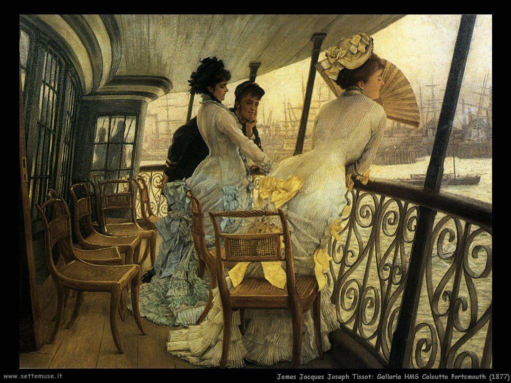 Tissot, Galleria HMS Calcutta Portsmouth (1877)