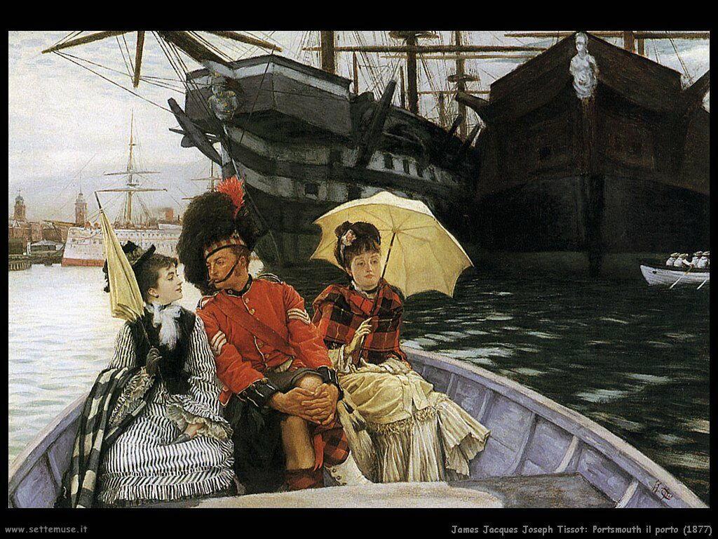 Tissot, Portsmouth il porto (1877)