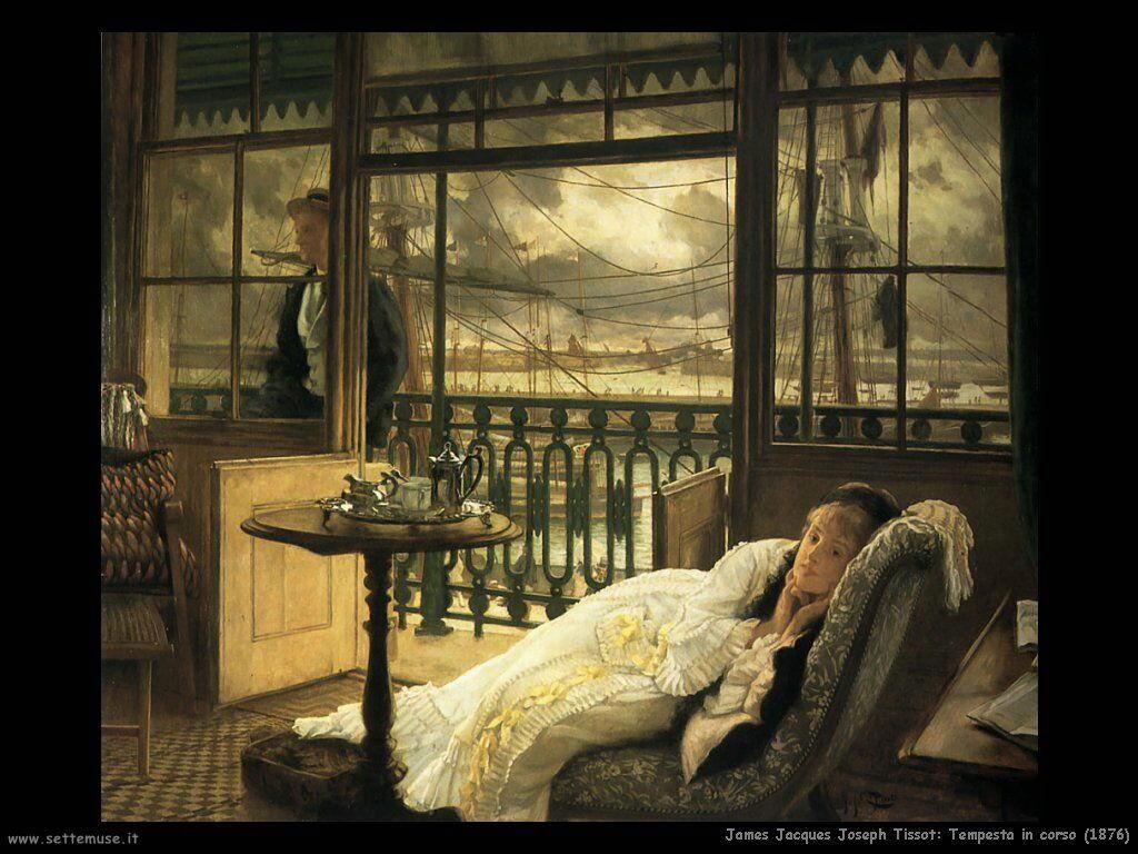 Tissot, Tempesta in corso (1876)