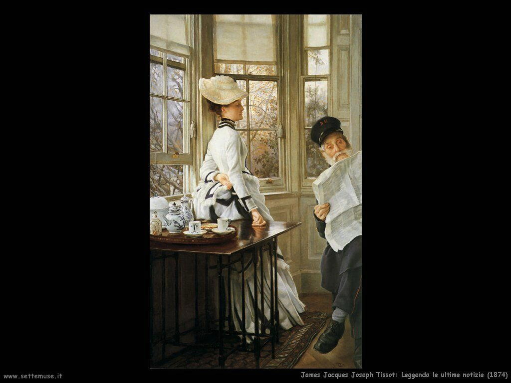 Tissot, Leggendo le ultime notizie (1874)