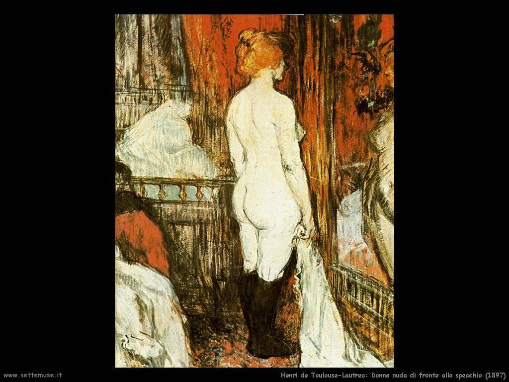 toulouse lautrec 039 donna nuda di fronte allo specchio 1897