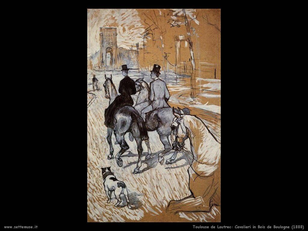 toulouse lautrec cavalieri in bois de boulogne 1888