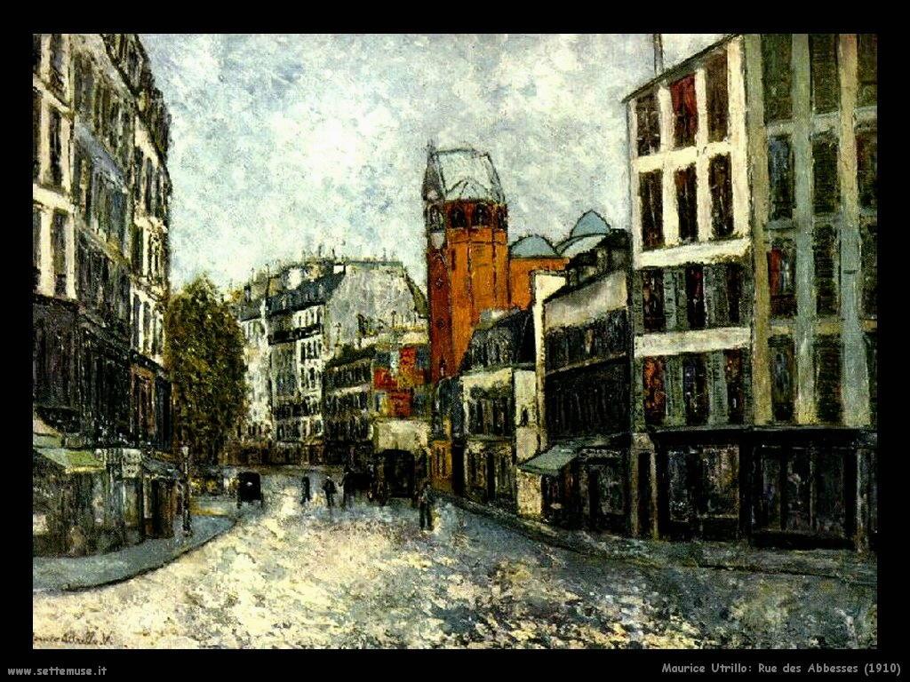 Maurice Utrillo_rue_des_abbesses_1910