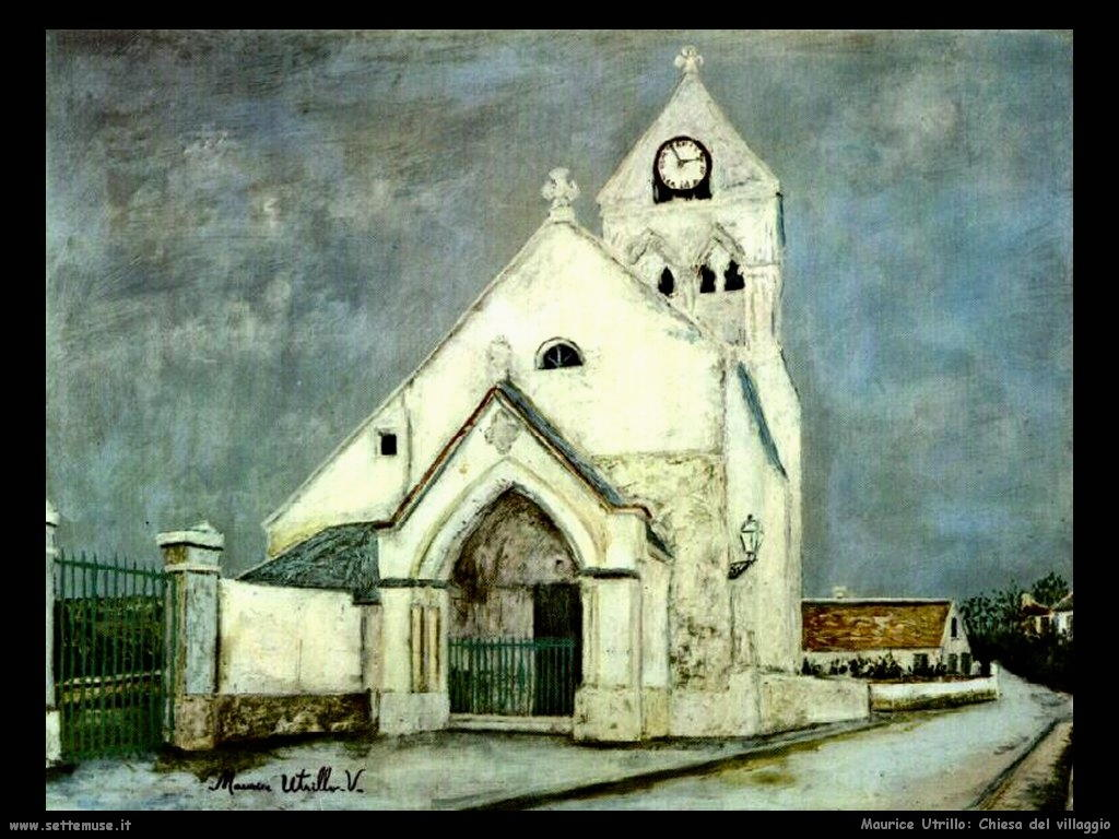 Maurice Utrillo_chiesa_del_villaggio