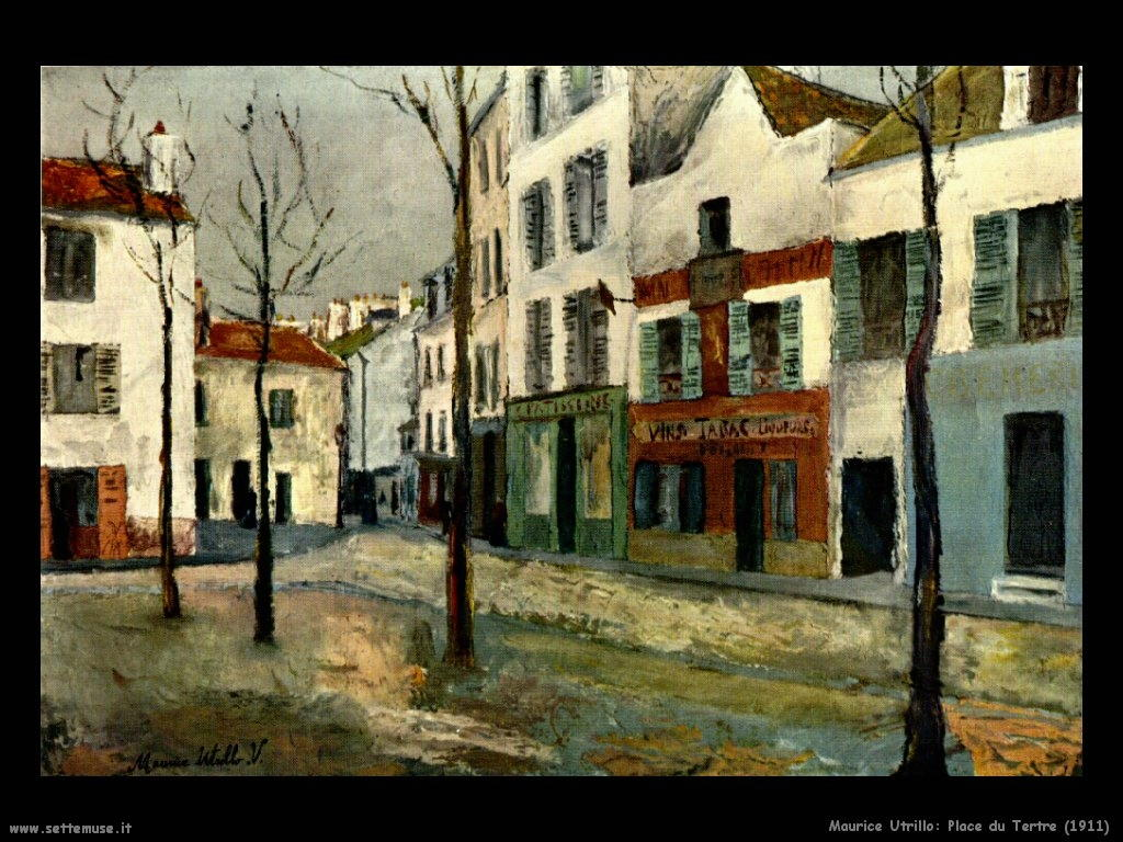 Maurice Utrillo_place_du_tertre_1911