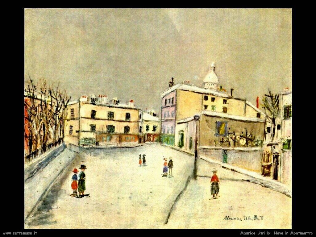 Maurice Utrillo_neve_in_montmartre
