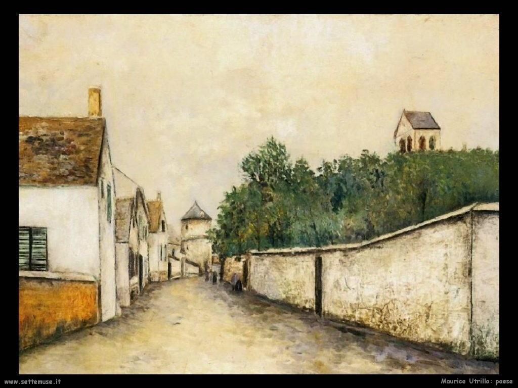 Maurice Utrillo paesaggio