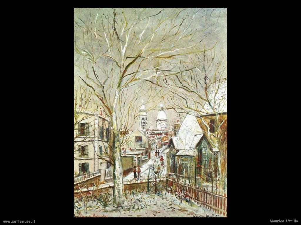 Maurice Utrillo città con neve