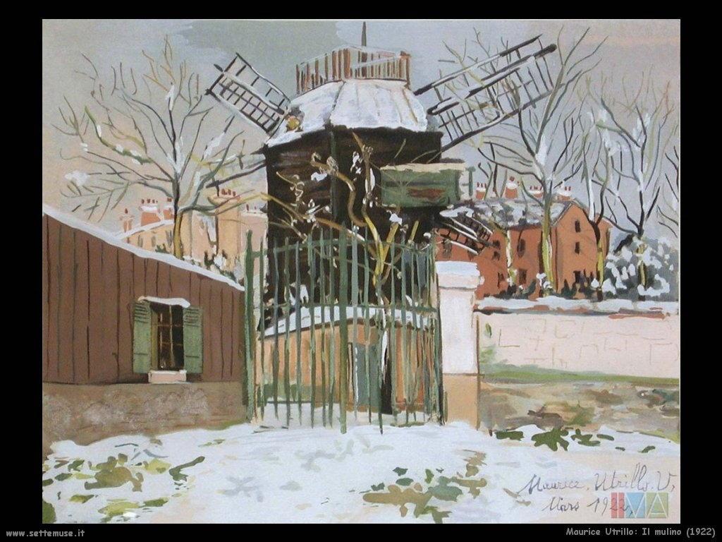 Maurice Utrillo_il_mulino_1922