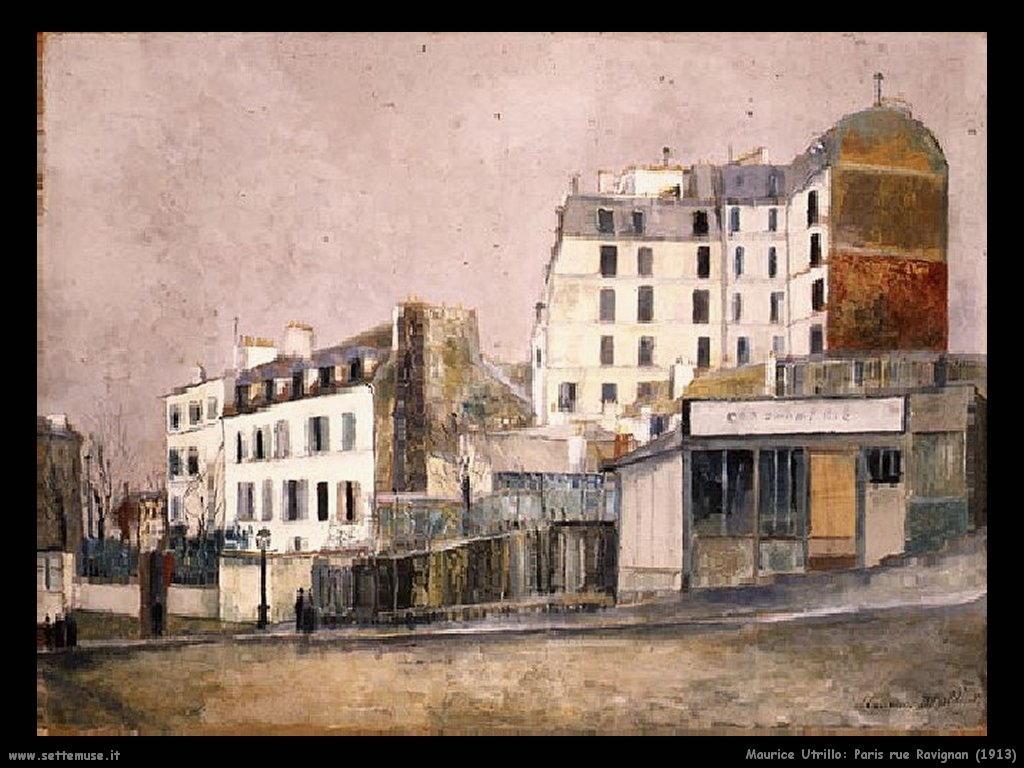 Maurice Utrillo_Paris_Rue_Ravignan_1913