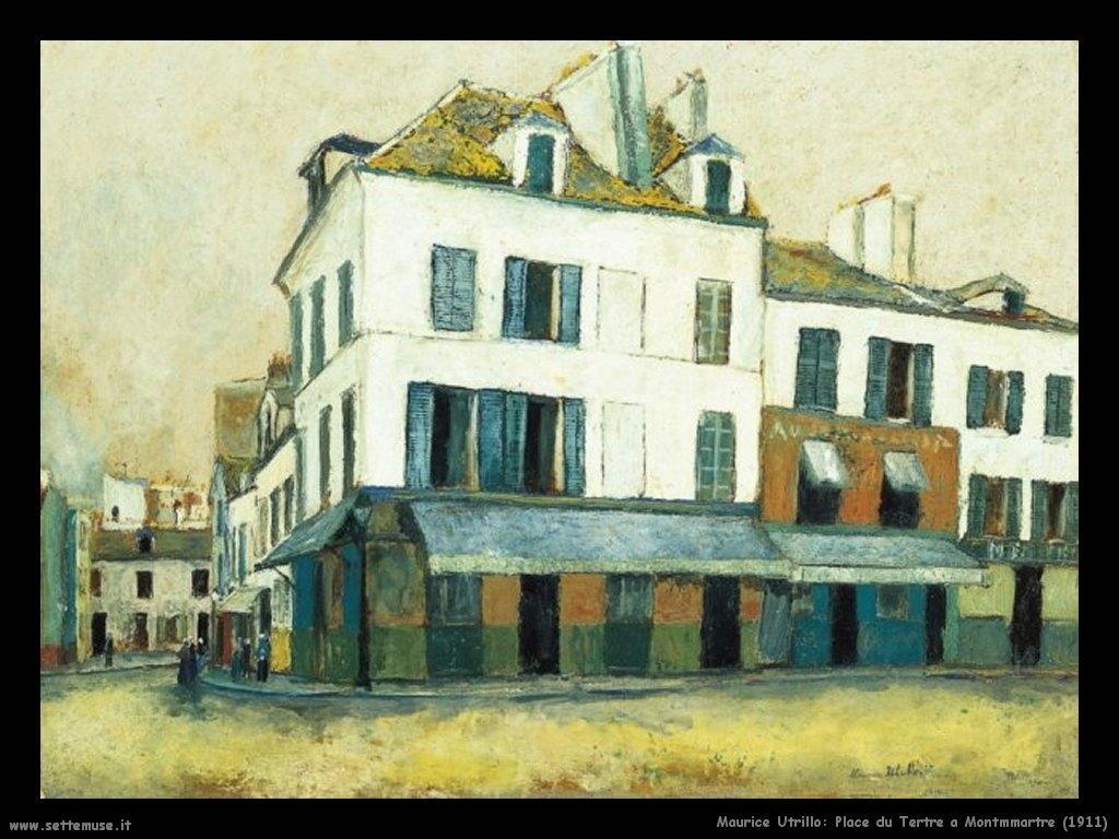 Maurice Utrillo_place_du_Tertre_a_Montmartre_1911