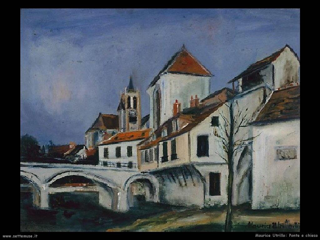 Maurice Utrillo_ponte_e_chiesa