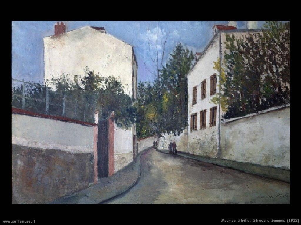 Maurice Utrillo_strada_a _Sannois_1912
