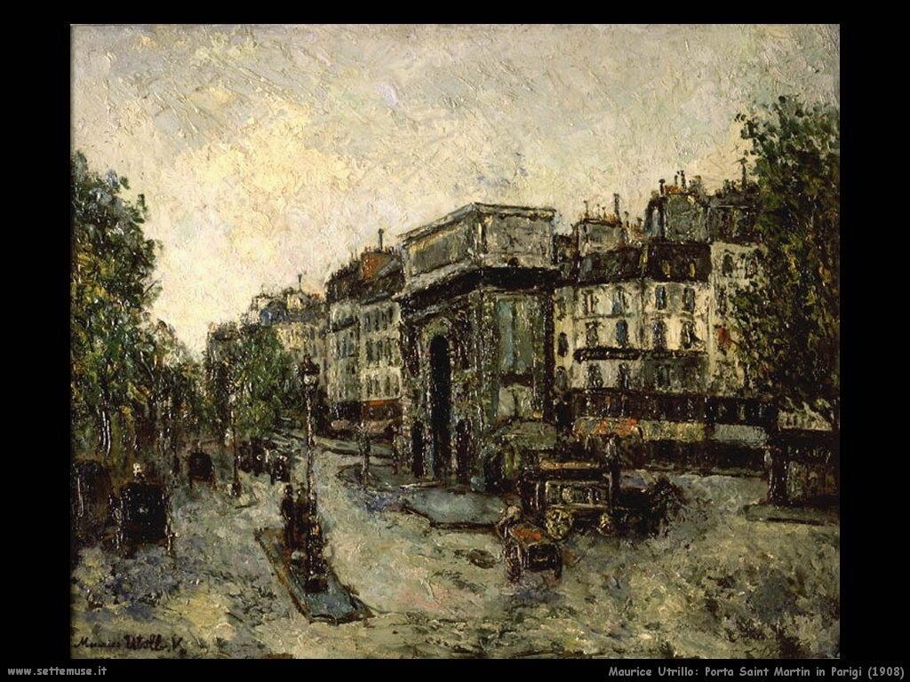 Maurice Utrillo_Porta_Saint_Martin_in_Parigi_1908