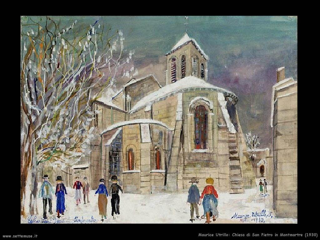 Maurice Utrillo_chiesa_san_pietro_in_Montmartre_1930
