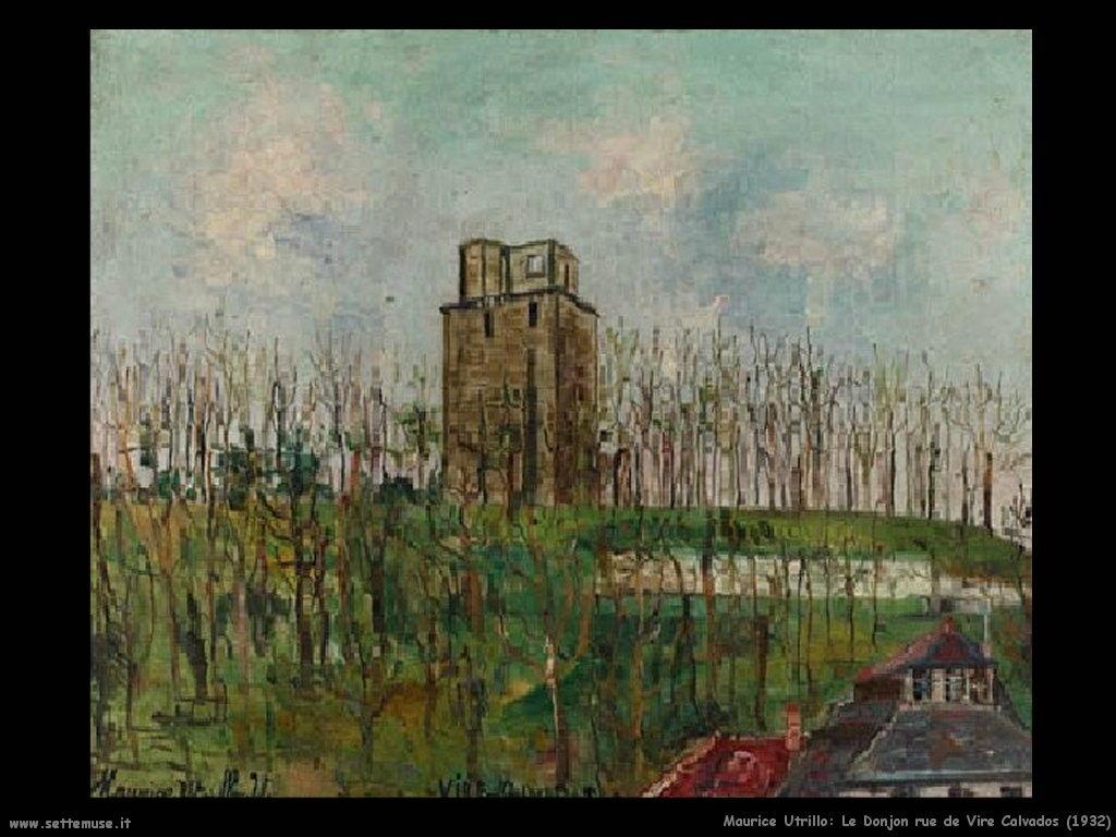 Maurice Utrillo_Le_Donjon_rue_de_Veaux _Vire_Calvados_1932