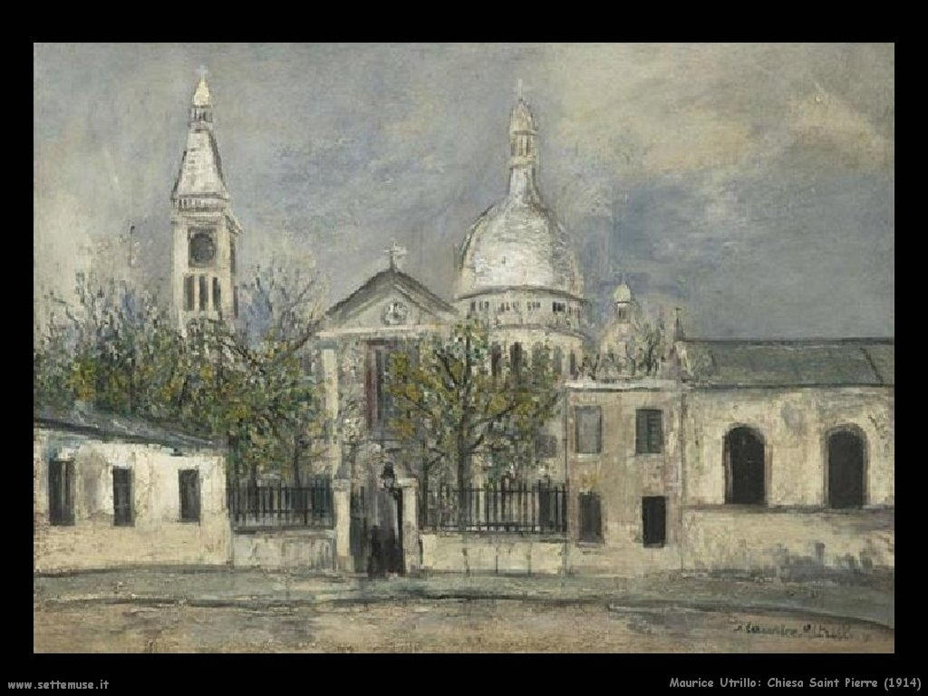 Maurice Utrillo_ chiesa_Saint_Pierre_1914