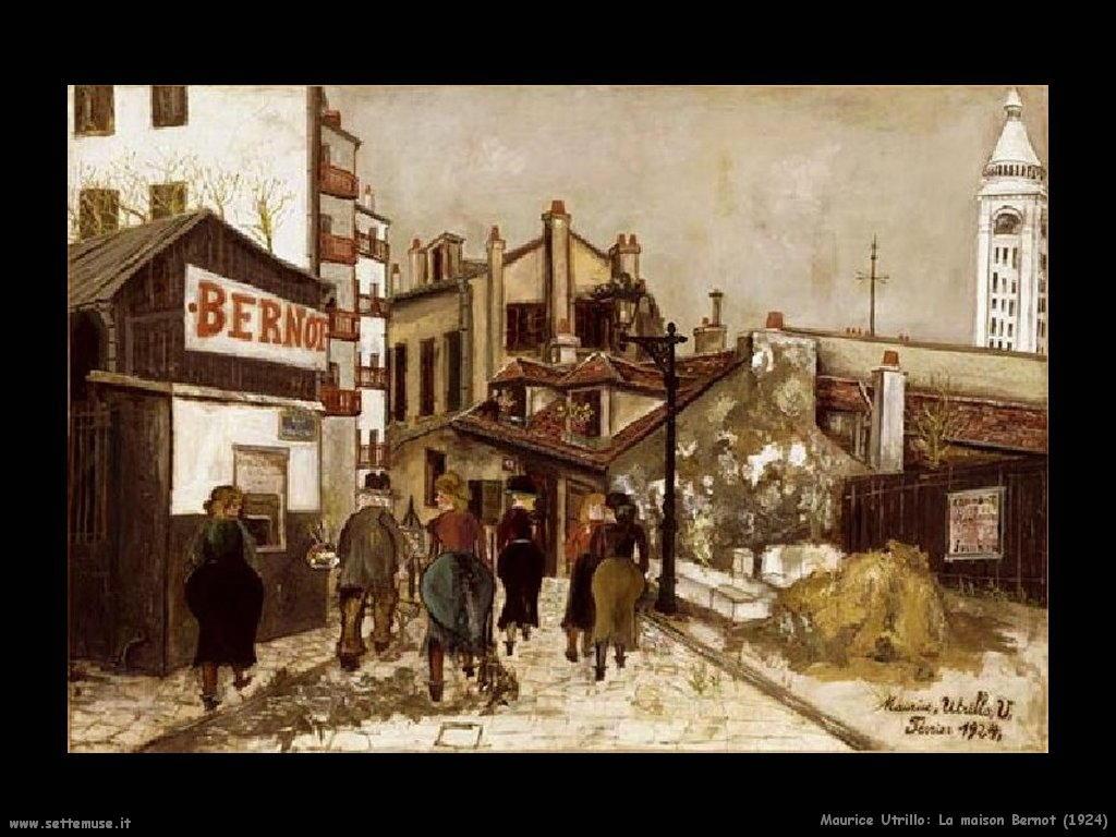 Maurice Utrillo_La_Maison_Bernot_1924