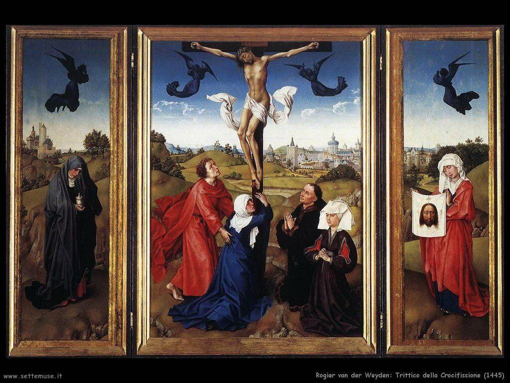 rogier van der weyden trittico_della_crocifissione_1445