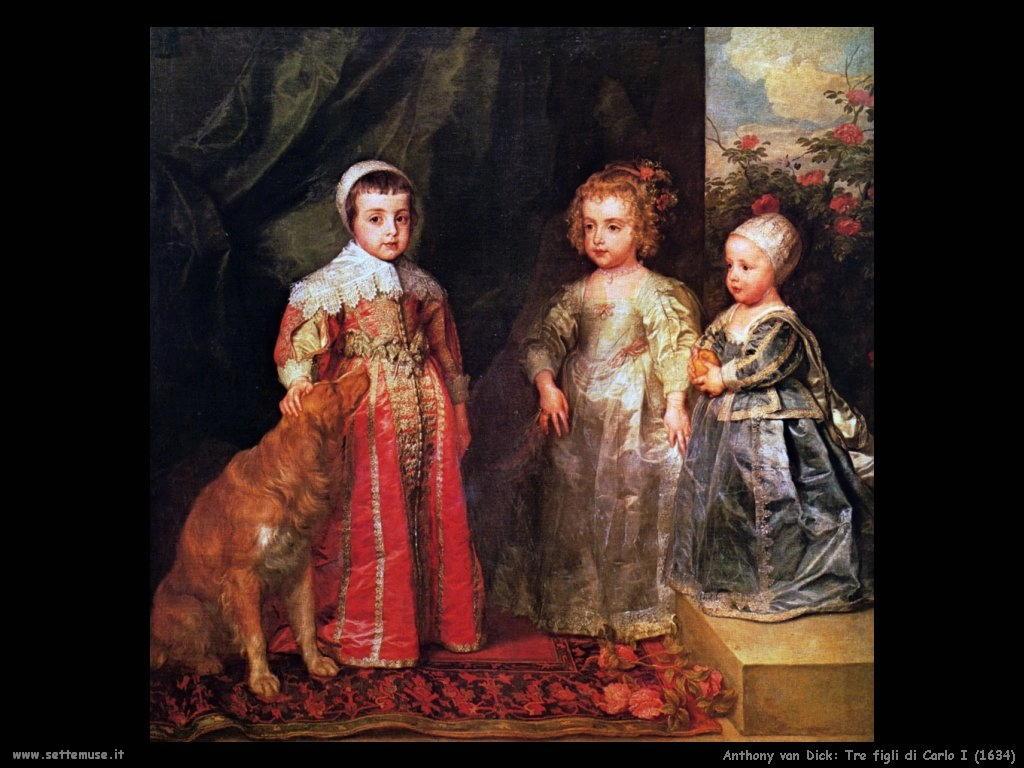 Anthony van Dyck_tre_figli_carlo_i_1634