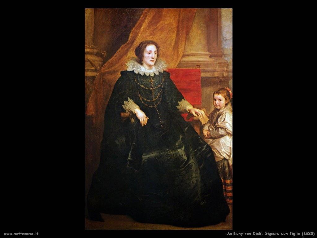 Anthony van Dyck_signora_con_figlia_1628
