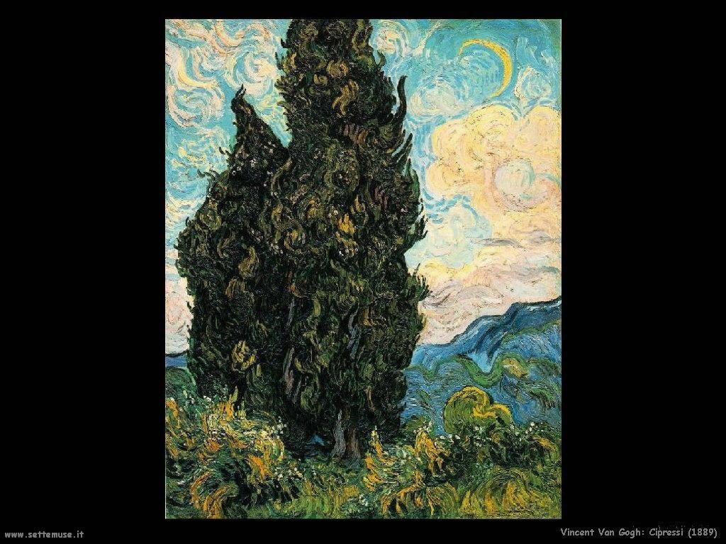 Vincent van Gogh_cipressi_1889