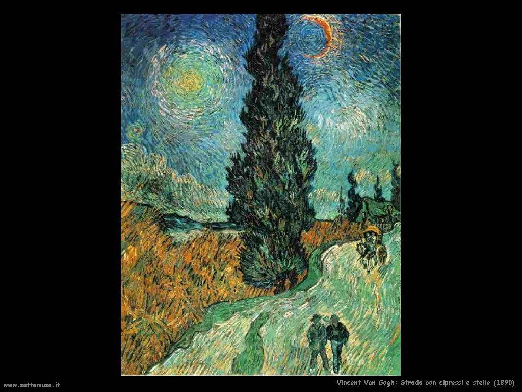 Vincent van Gogh_strada_con_cipressi_e_stelle_1890