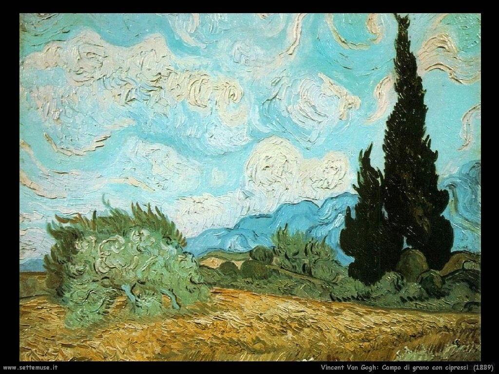 Vincent van Gogh_campo_di_grano_con_cipressi_1889