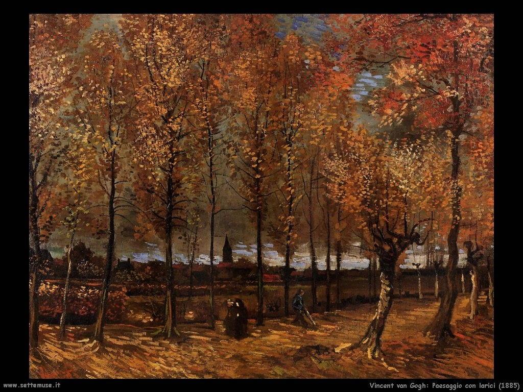 Vincent van Gogh_paesaggio_con_larici_1885
