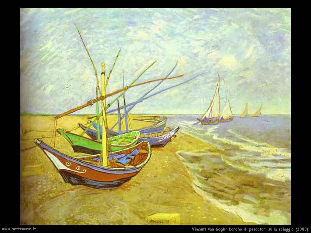 Vincent van Gogh_barche_di_pescatori_sulla_spiaggia_1888