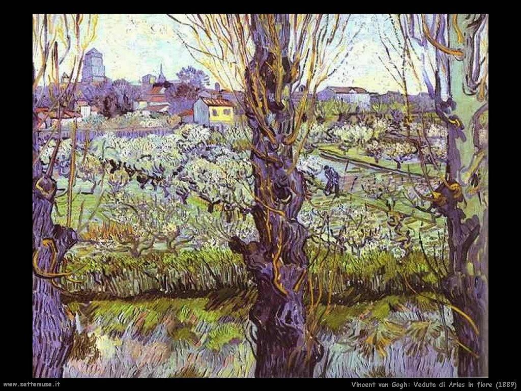 Vincent van Gogh_veduta_di_arles_in_fiore_1889
