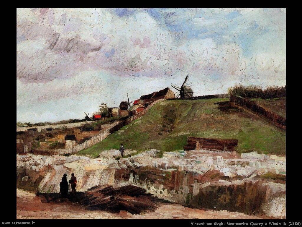 Vincent van Gogh_Montmartre Cava e mulini a vento (1886)