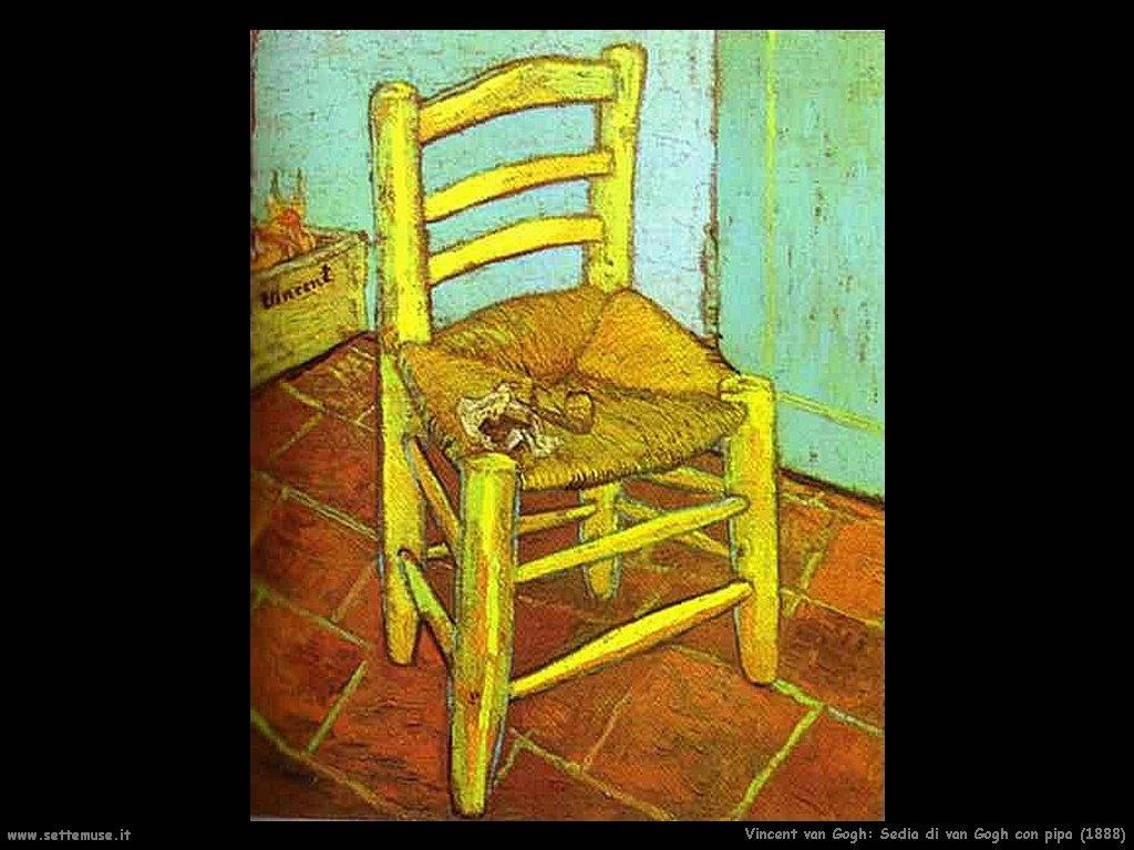 Vincent van Gogh_sedia_di_van_gogh_con_pipa_1888