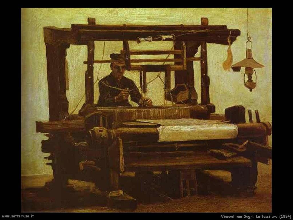 Vincent van Gogh_la_tessitura_1884