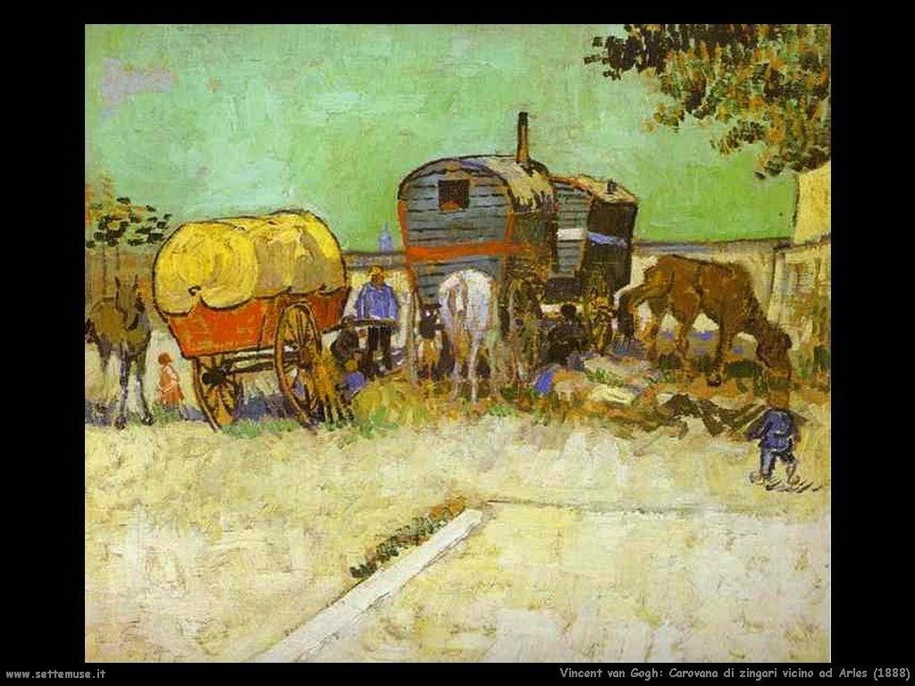 Vincent van Gogh_la_carovana_di_zingari_vicino_arles_1888