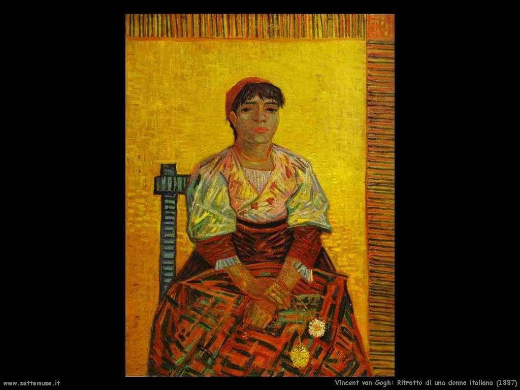 Vincent van Gogh_una_donna_italiana_1887
