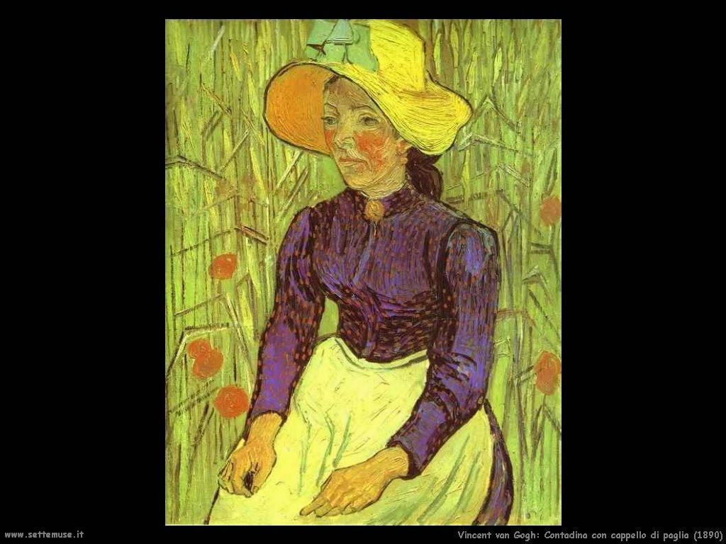 Vincent van Gogh_contadina_con_cappello_di_paglia_1890